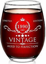 Aozita Weinglas zum 30. Geburtstag für Damen und