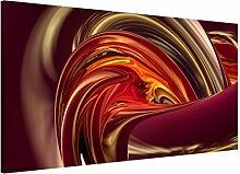 Apalis 108760 Magnettafel Fantastic Burning Memoboard Design Quer Metall Magnet Pinnwand Motiv Wand Stahl Küche Büro, 37 x 78 cm