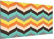 Apalis 108761 Magnettafel Fischgrätmuster Herbststimmung Memoboard Design Quer Metall Magnet Pinnwand Motiv Wand Stahl Küche Büro, 37 x 78 cm