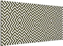 Apalis 108770 Magnettafel Geometrisches Design Memoboard Quer Metall Magnet Pinnwand Motiv Wand Stahl Küche Büro, 37 x 78 cm, braun