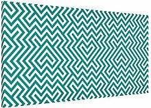 Apalis 108771 Magnettafel Geometrisches Design Memoboard Quer Metall Magnet Pinnwand Motiv Wand Stahl Küche Büro, 37 x 78 cm, min