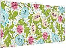 Apalis 108782 Magnettafel Kostbarer Blütentraum Memoboard Design Quer Metall Magnet Pinnwand Motiv Wand Stahl Küche Büro, 37 x 78 cm