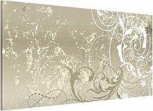 Apalis 108819 Magnettafel Perlmutt Ornament Design Memoboard Quer Metall Magnet Pinnwand Motiv Wand Stahl Küche Büro, 37 x 78 cm