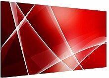 Apalis 108824 Magnettafel Red Heat Memoboard Design Quer Metall Magnet Pinnwand Motiv Wand Stahl Küche Büro, 37 x 78 cm