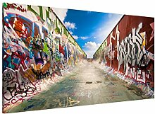 Apalis 108838 Magnettafel Skate Graffiti Memoboard Design Quer Metall Magnet Pinnwand Motiv Wand Stahl Küche Büro, 37 x 78 cm