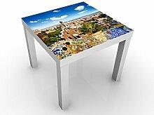 Apalis 45824-276191-855817 Design Tisch Barcelona, 55 x 55 x 45 cm, weiß