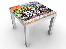 Apalis 46019-276597-855817 Design Tisch Graffiti, 55 x 55 x 45 cm, weiß