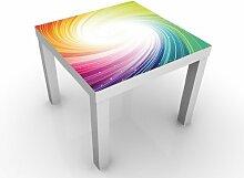 Apalis 46274-276890-855817 Design Tisch Kaleidoscope, 55 x 55 x 45 cm, weiß