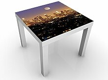 Apalis 46414-277062-855817 Design Tisch L.A. Nights, 55 x 55 x 45 cm, weiß