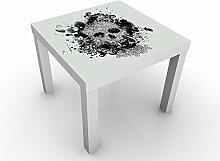 Apalis 47182-278244-855816 Design Tisch Skull, 55 x 55 x 45 cm, schwarz