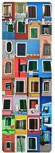 Apalis 78855 Wandgarderobe Fenster der Welt | Design Garderobe Garderobenpaneel Kleiderhaken Flurgarderobe Hakenleiste Holz Standgarderobe Hängegarderobe | 139x46cm