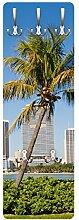 Apalis 79171 Wandgarderobe Miami Beach Skyline  