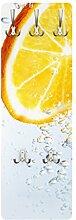 Apalis 79538 Wandgarderobe Splash Orange | Design Garderobe Garderobenpaneel Kleiderhaken Flurgarderobe Hakenleiste Holz Standgarderobe Hängegarderobe | 139x46cm
