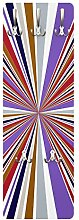 Apalis 79573 Wandgarderobe Stripy Universe Nummer 8 | Design Garderobe Garderobenpaneel Kleiderhaken Flurgarderobe Hakenleiste Holz Standgarderobe Hängegarderobe | 139x46cm
