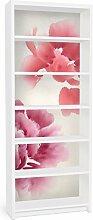 Apalis 90748 Möbelfolie für Ikea Billy Regal - Künstlerische Flora II, größe 2 mal, 94 x 76 cm