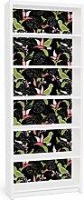 Apalis 90782 Möbelfolie für Ikea Billy Regal - Papagei Ornament, größe 2 mal, 94 x 76 cm