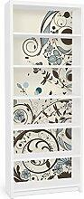 Apalis 90816 Möbelfolie für Ikea Billy Regal - Vintage Meadow, größe 2 mal, 94 x 76 cm