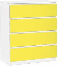Apalis 91232 Möbelfolie für Ikea Malm Kommode - selbstklebende Colour, größe 4 mal, 20 x 80 cm, limone