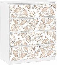 Apalis 91269 Möbelfolie für Ikea Malm Kommode - selbstklebende Henna Grafik, größe 4 mal, 20 x 80 cm
