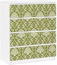 Apalis 91353 Möbelfolie für Ikea Malm Kommode - selbstklebende The 12 Muses - Polyhymnia, größe 4 mal, 20 x 80 cm