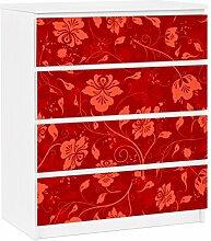 Apalis 91354 Möbelfolie für Ikea Malm Kommode - selbstklebende The 12 Muses - Terpsichore, größe 4 mal, 20 x 80 cm