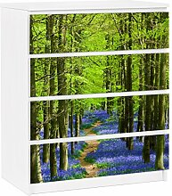 Apalis 91367 Möbelfolie für Ikea Malm Kommode - selbstklebende Wanderweg in Hertfordshire, größe 4 mal, 20 x 80 cm