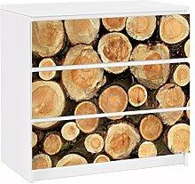 Apalis 91716 Möbelfolie für Ikea Malm Kommode nummer YK18 Baumstämme, größe 3 mal, 20 x 80 cm