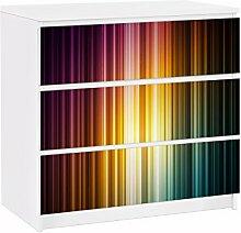Apalis 91743 Möbelfolie für Ikea Malm Kommode Rainbow Light, größe 3 mal, 20 x 80 cm