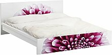 Apalis 93543 Möbelfolie für Ikea Malm Bett niedrig 140x200 cm - Aster, größe 77 x 157 cm