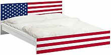 Apalis 93590 Möbelfolie für Ikea Malm Bett niedrig 140x200 cm - Flag of America 1, größe 77 x 157 cm