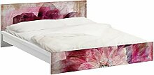 Apalis 93605 Möbelfolie für Ikea Malm Bett niedrig 140x200 cm - Grunge Flower, größe 77 x 157 cm