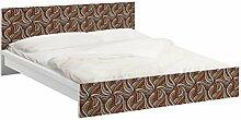 Apalis 93611 Möbelfolie für Ikea Malm Bett niedrig 140x200 cm - Holzschnitt, größe 77 x 157 cm, braun