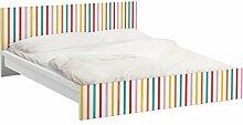 Apalis 93655 Möbelfolie für Ikea Malm Bett niedrig 140x200 cm - nummer UL750 Stripes, größe 77 x 157 cm