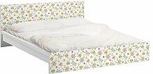 Apalis 93687 Möbelfolie für Ikea Malm Bett niedrig 140x200 cm - Schmetterling Illustrationen, größe 77 x 157 cm