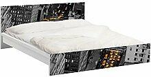 Apalis 93699 Möbelfolie für Ikea Malm Bett niedrig 140x200 cm - Taxilichter Manhattan, größe 77 x 157 cm