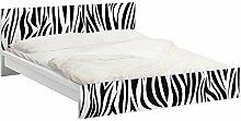 Apalis 93722 Möbelfolie für Ikea Malm Bett niedrig 140x200 cm - Zebra Pattern, größe 77 x 157 cm