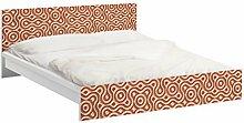 Apalis 93724 Möbelfolie für Ikea Malm Bett niedrig 160x200 cm - Abstrakte Ethno Textur, größe 77 x 177 cm