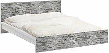 Apalis 93733 Möbelfolie für Ikea Malm Bett niedrig 160x200 cm - Birkenrinde, größe 77 x 177 cm