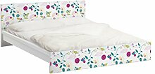 Apalis 93739 Möbelfolie für Ikea Malm Bett niedrig 160x200 cm - Blumencocktail, größe 77 x 177 cm