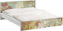 Apalis 93740 Möbelfolie für Ikea Malm Bett niedrig 160x200 cm - Blüten vergangener Zeit, größe 77 x 177 cm