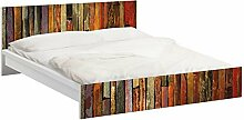 Apalis 93741 Möbelfolie für Ikea Malm Bett niedrig 160x200 cm - Bretterstapel, größe 77 x 177 cm
