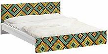 Apalis 93743 Möbelfolie für Ikea Malm Bett niedrig 160x200 cm - Buntes Mosaik, größe 77 x 177 cm