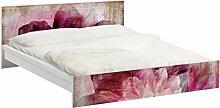Apalis 93790 Möbelfolie für Ikea Malm Bett niedrig 160x200 cm - Grunge Flower, größe 77 x 177 cm