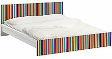 Apalis 93791 Möbelfolie für Ikea Malm Bett niedrig 160x200 cm - Happy Stripes, größe 77 x 177 cm
