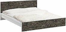 Apalis 93802 Möbelfolie für Ikea Malm Bett niedrig 160x200 cm - Kastanienrinde, größe 77 x 177 cm