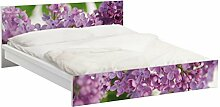 Apalis 93810 Möbelfolie für Ikea Malm Bett niedrig 160x200 cm - Lovely, größe 77 x 177 cm, lila