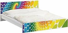Apalis 93811 Möbelfolie für Ikea Malm Bett niedrig 160x200 cm - Magic Points, größe 77 x 177 cm