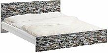 Apalis 93812 Möbelfolie für Ikea Malm Bett niedrig 160x200 cm - Mallorca Stonewall, größe 77 x 177 cm