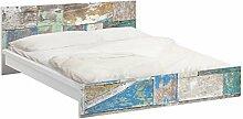 Apalis 93815 Möbelfolie für Ikea Malm Bett niedrig 160x200 cm - Maritime Planks, größe 77 x 177 cm