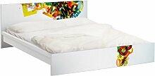 Apalis 93856 Möbelfolie für Ikea Malm Bett niedrig 160x200 cm - Rainbow Alphabet, größe 77 x 177 cm